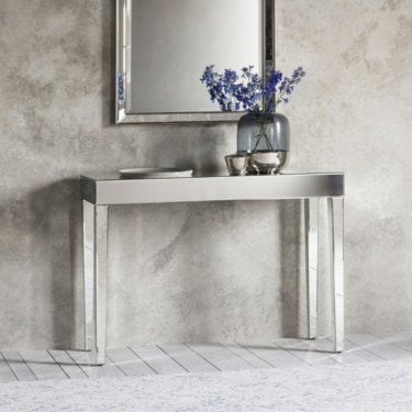 Florence Console Table, Mirrored