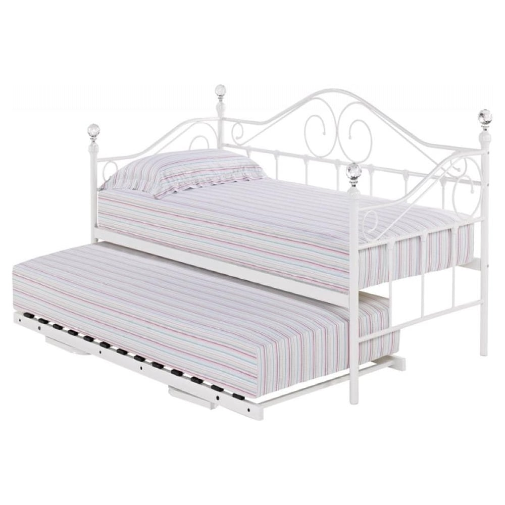 Lpd Furniture Florence White Metal Trundle Bed Leader Stores