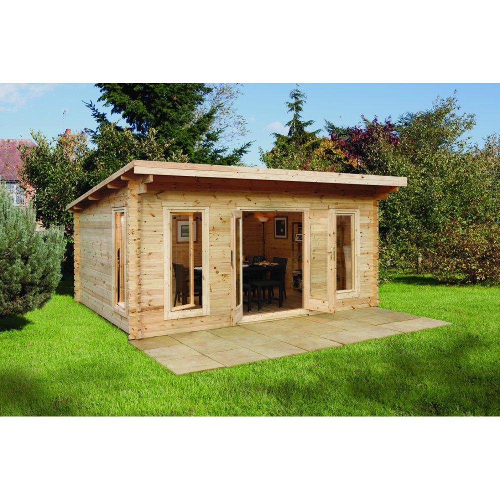 Forest cabins forest cabins uk for Garden log cabins uk