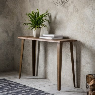 Foundry Console Table, Oak