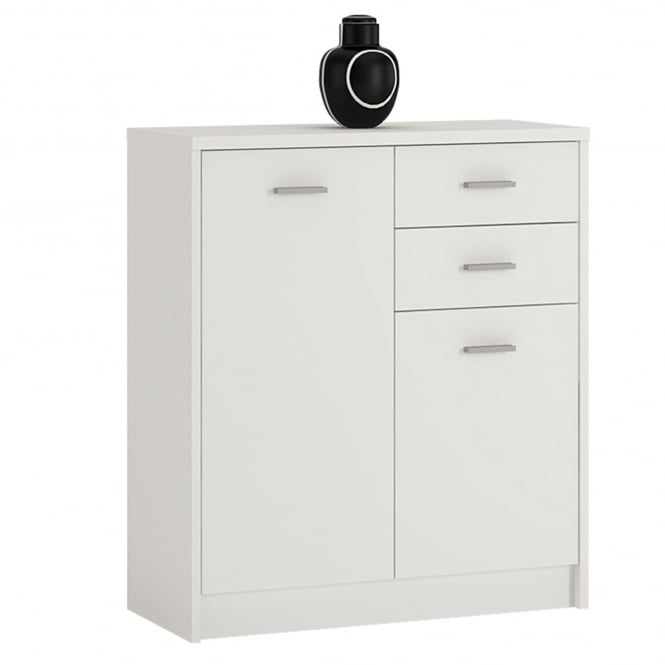 Furniture to go 4you pearl white cupboard leader stores for Furniture 2 go