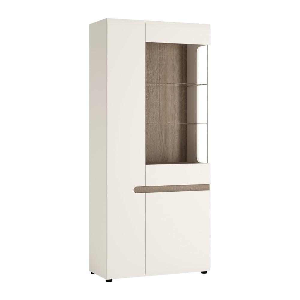 Chelsea White U0026amp; Oak Trim Wide Display Unit