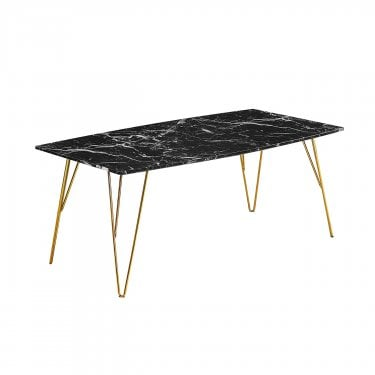 Fusion Coffee Table, Black & Marble