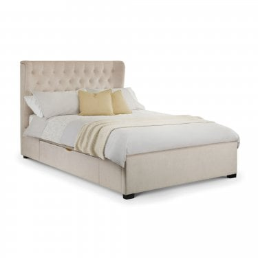 Geneva Pearl Chenlille Kingsize Wing Bed