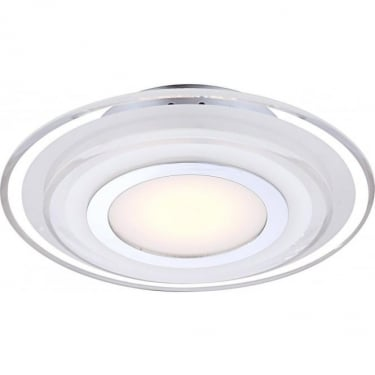Globo Lighting Amos Chrome 1Lt Indoor Recessed Ceiling Light with Satin & Clear Crystal (41683-3)