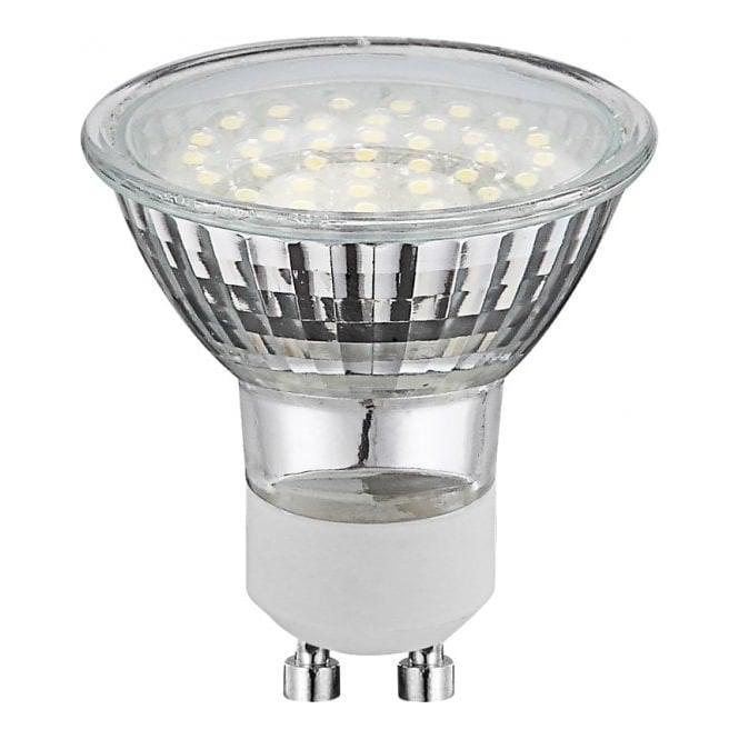 globo lighting chrome gu10 20w energy saving led bulb leader stores. Black Bedroom Furniture Sets. Home Design Ideas
