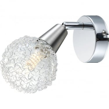 Globo Lighting Cicer Chrome Single LED Wall Light