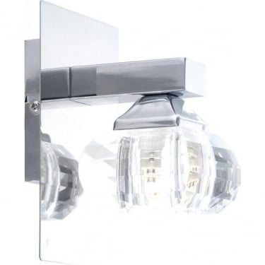 Globo Lighting Cubus Chrome Single Wall Light