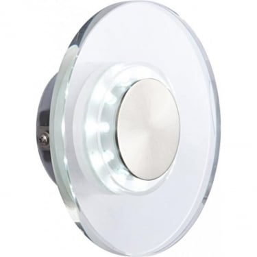 Globo Lighting Dana Polished Stainless Steel Round LED Wall Light