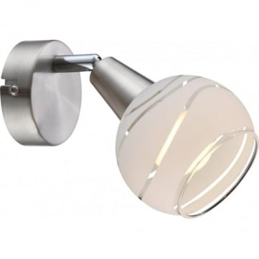 Globo Lighting Elliott Matt Nickel Single LED Wall Light