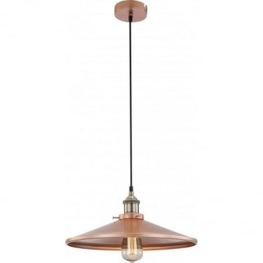 Globo Lighting Knud Matt Copper 1Lt Indoor Pendant Light (15062)