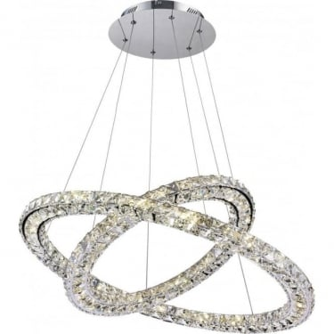 Globo Lighting Marilyn Chrome 1Lt Indoor Pendant Light with K9 Crystals (67037-60)