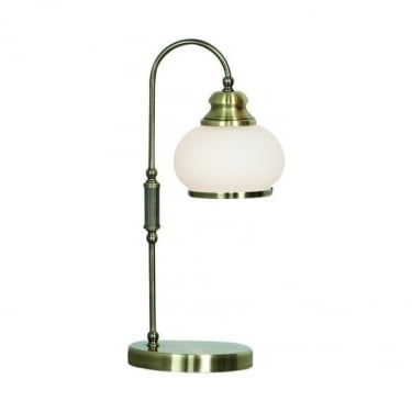 Globo Lighting Nostalgika Antique Brass Single Table Lamp