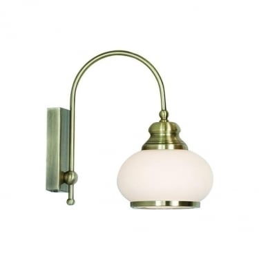 Globo Lighting Nostalgika Antique Brass Single Wall Light