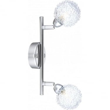 Globo Lighting Orina Chrome Double Wall Light
