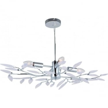 Globo Lighting Vida Satin Clear Acrylic 4Lt Indoor Multi-Arm Pendant Light (63160-4H)