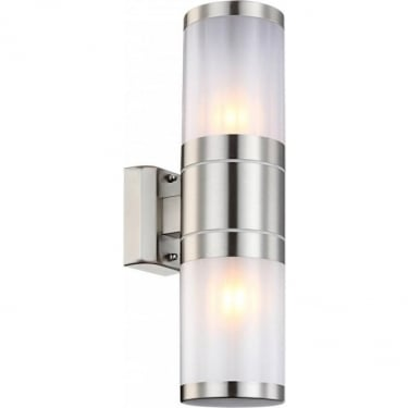 Globo Lighting Xeloo Stainless Steel Double Wall Light