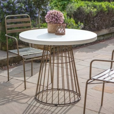 Greenwich Bistro Table, Cement White