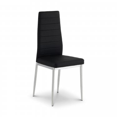 Greenwich Black & Chrome Dining Chair