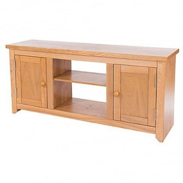 Hamilton American White Oak 2 Door TV Unit
