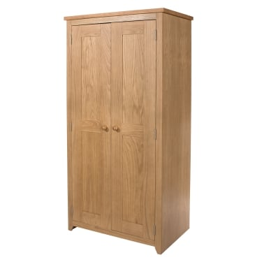 Hamilton American White Oak 2 Door Wardrobe
