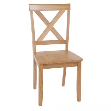 Hamilton American White Oak Lattice Dining Chair Pair with Rubberwood Legs