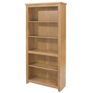 Hamilton American White Oak Tall Bookcase with Adjustable Shelves