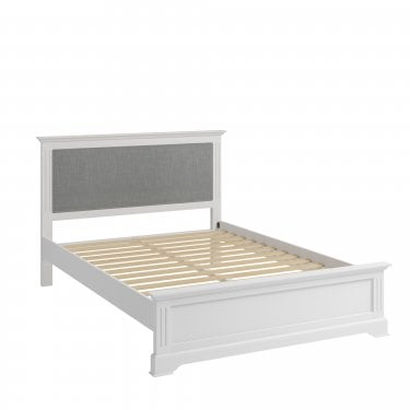 Hamilton Double Low End Bed, Classic White