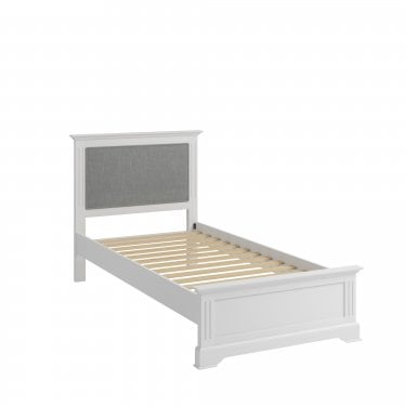 Hamilton Single Low End Bed, Classic White