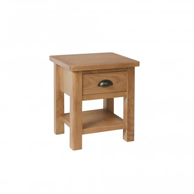 Hammond 1 Drawer Lamp Table, Real Oak