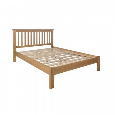 Hammond Double Low End Bed, Real Oak