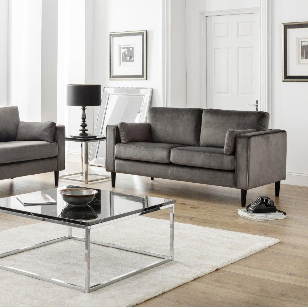 Julian Bowen Hayward 2 Seater Sofa Grey