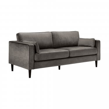 Hayward Grey Velvet 3 Seater Sofa