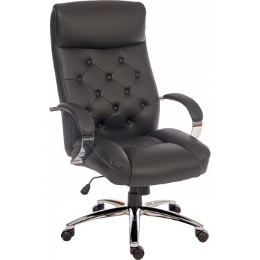 Hendon Black Executive Armchair with Chrome Base