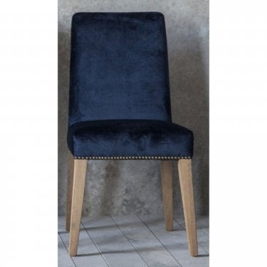 Higgs Dining Chair Set Of 2, Atlantic Blue
