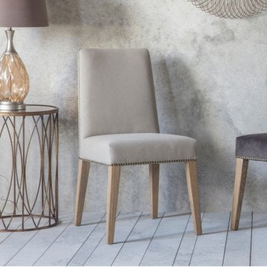 Higgs Dining Chair Set Of 2, Cement Grey