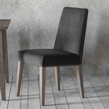 Higgs Dining Chair Set Of 2, Mouse Brown