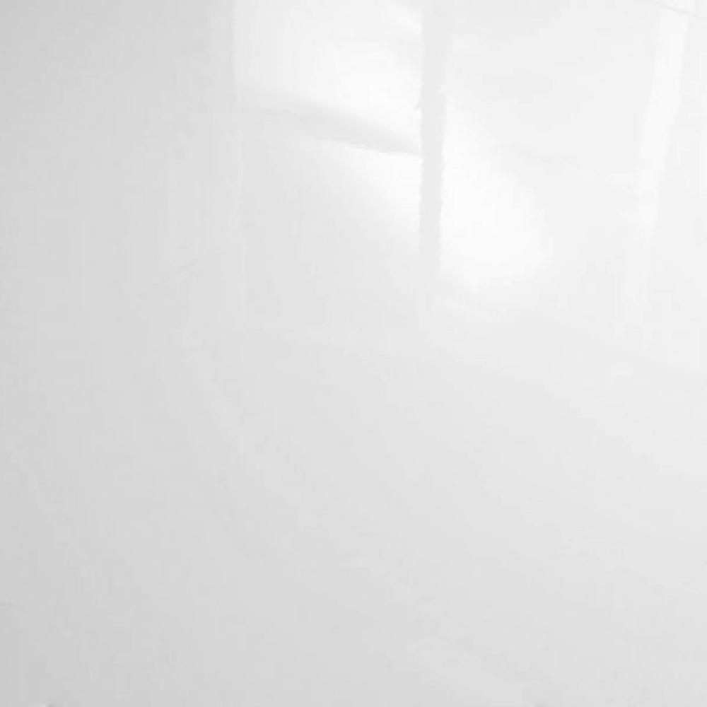 White Gloss Kitchen Flooring: Falquon High Gloss Flat Edge White Laminate Flooring (C500) At Leader Stores