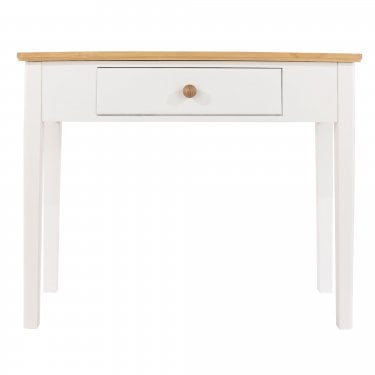 Highland Home AB Assembled Oak & White Painted Console Table