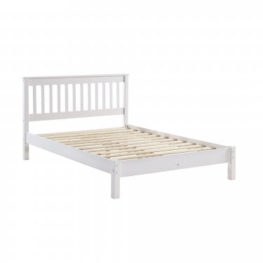 Highland Home AB Assembled Oak & White Painted Low-End Double Bed