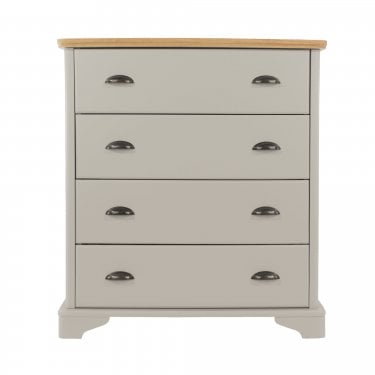Highland Home BB Assembled Oak & Grey Painted 4 Drawer Chest