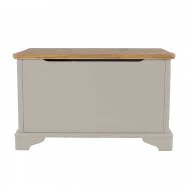 Highland Home BB Assembled Oak & Grey Painted Storage Trunk