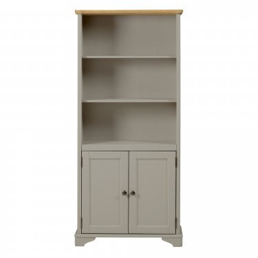 Highland Home BD Assembled Oak & Grey Painted 2 Door Bookcase