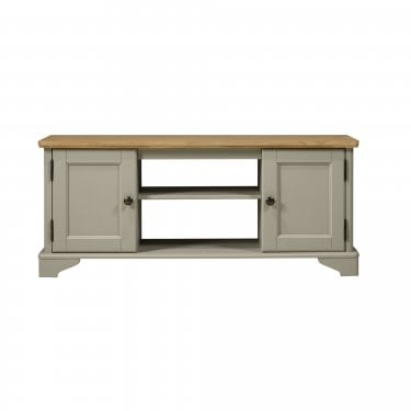 Highland Home BD Assembled Oak & Grey Painted 2 Door TV Unit