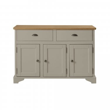 Highland Home BD Assembled Oak & Grey Painted 2 Drawer 3 Door Sideboard