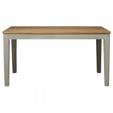 Highland Home BD Assembled Oak & Grey Painted Rectangular Dining Table