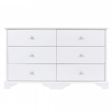 Highland Home CB Assembled White Painted 3+3 Drawer Chest