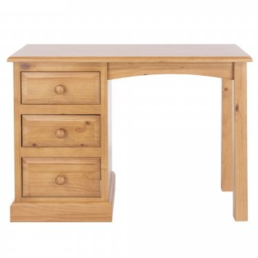 Highland Home EB Assembled Antique Lacquered Pine 3 Drawer Dressing Table