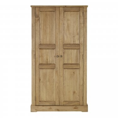 Highland Home FB Assembled Antique Waxed Pine 2 Door Wardrobe
