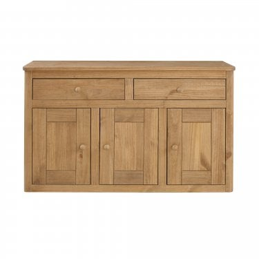 Highland Home HD Assembled Antique Waxed Pine 2 Drawer 3 Door Sideboard